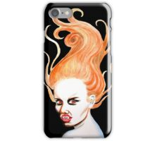 Vampire with Red Hair iPhone Case/Skin