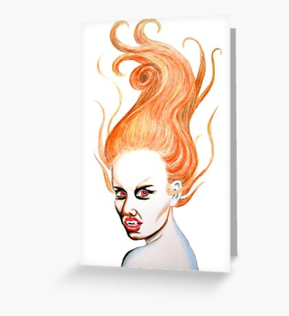 Vampire with Red Hair Greeting Card