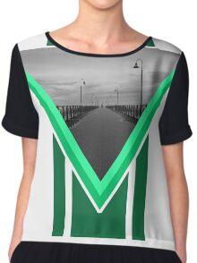 Italian Walkway (Green & Grey) Chiffon Top
