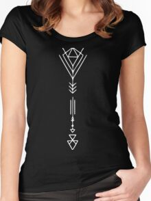 Arrow in White Women's Fitted Scoop T-Shirt