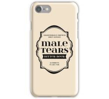 Male Tears Bitter Beer - Bottle Label Design iPhone Case/Skin