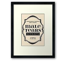 Male Tears Bitter Beer - Bottle Label Design Framed Print