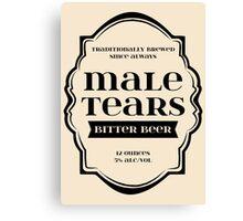Male Tears Bitter Beer - Bottle Label Design Canvas Print