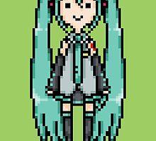 Miku Pixel Sprite by supalurve