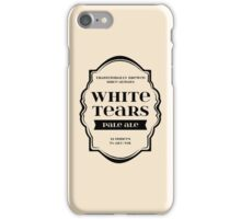 White Tears Pale Ale - Beer Bottle Label Design iPhone Case/Skin