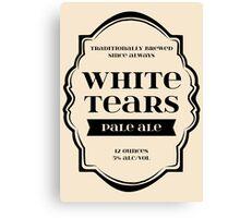 White Tears Pale Ale - Beer Bottle Label Design Canvas Print