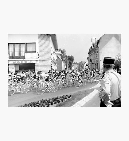 Tour de France 1980's black and white Photographic Print