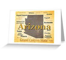 Aged Arizona State Pride Map Greeting Card