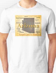 Aged Arizona State Pride Map T-Shirt