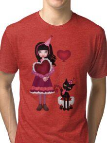Francis Mary - Valentine Love Tri-blend T-Shirt