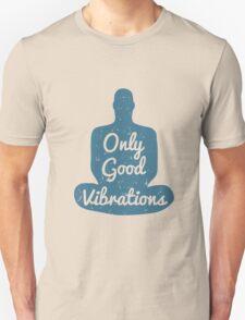 Meditation Human silhouette isolated on white background Unisex T-Shirt