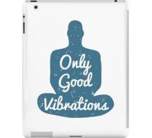 Meditation Human silhouette isolated on white background iPad Case/Skin
