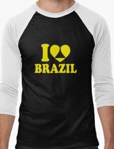 I Heart Brazil Men's Baseball ¾ T-Shirt