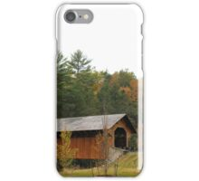 Covered Bridge, Greenfield Massachusetts iPhone Case/Skin