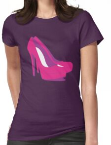 PINK SHOES Womens Fitted T-Shirt