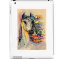Horse head watercolor painting iPad Case/Skin