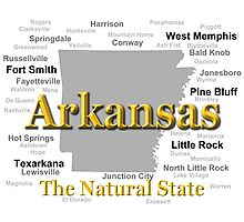 Arkansas State Pride Map Silhouette  Photographic Print