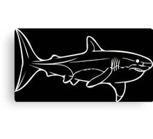 Great White in White Canvas Print