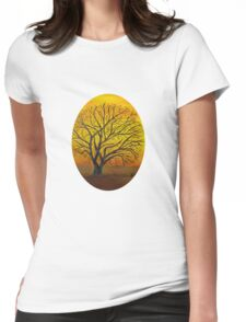 Rural sunset Womens Fitted T-Shirt