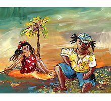 Stranded In Tahiti Photographic Print