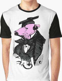 Graduation Gift Ideas - Funny Graduate Vintage Pig Tshirts Graphic T-Shirt