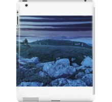 trees on hillside among huge boulders at night iPad Case/Skin