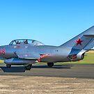 WSK SB Lim-2 Midget Red 18 N104CJ taxying by Colin Smedley