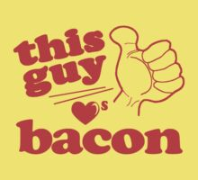 This Guy Loves Bacon Baby Tee