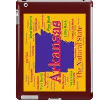 Colorful Arkansas State Pride Map Silhouette  iPad Case/Skin