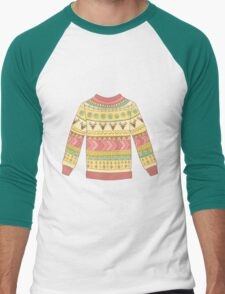 Cute cozy sweater Men's Baseball ¾ T-Shirt