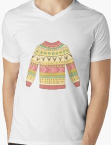 Cute cozy sweater Mens V-Neck T-Shirt