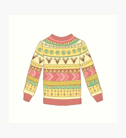 Cute cozy sweater Art Print