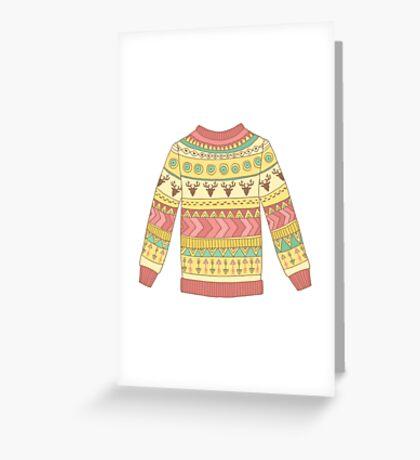 Cute cozy sweater Greeting Card