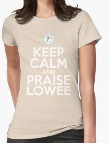 Praise White Womens Fitted T-Shirt