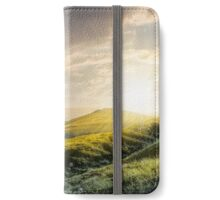 hillside panorama in Carpathian mountains iPhone Wallet/Case/Skin