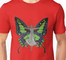 Art Nouveau Vintage Flapper With Butterfly Wings Unisex T-Shirt