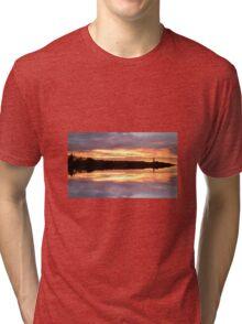 Sunset 680 mirror / reflection Tri-blend T-Shirt