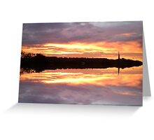 Sunset 680 mirror / reflection Greeting Card
