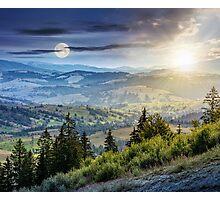 classic Carpathian mountain  landscape in summer Photographic Print