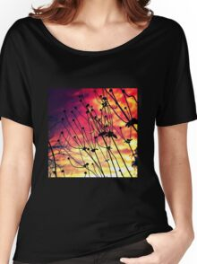 Fiery Flowers (LS.24) Women's Relaxed Fit T-Shirt