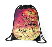 Fiery Flowers (LS.24) Drawstring Bag
