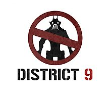 District 9 sign Photographic Print