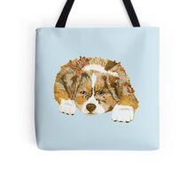 Red Merle Australian Shepherd Puppy Tote Bag
