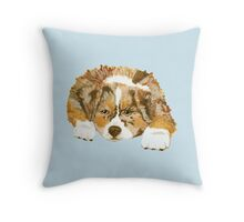 Red Merle Australian Shepherd Puppy Throw Pillow