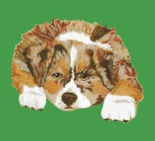 Red Merle Australian Shepherd Puppy Kids Clothes