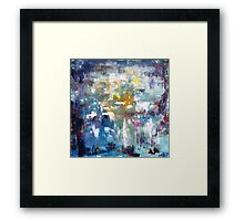 The need for existence, abstract art painting  Framed Print