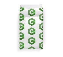 c++ c plus plus green language programming Duvet Cover