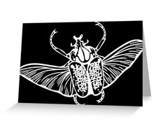 Goliath Beetle in White Greeting Card