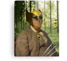 Wolverine + Ben Franklin Mash Up Metal Print