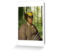 Wolverine + Ben Franklin Mash Up Greeting Card